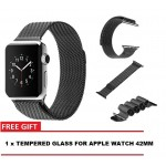 APPLE WATCH SERIES 1 2 3 BAND 42MM MILANESE LOOP SMOOTH STAINLESS STEEL STRAP MAGNETIC [CLEARANCE]