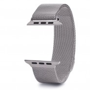APPLE WATCH BAND 42MM LUXURY MILANESE LOOP MESH SMOOTH STAINLESS STEEL STRAP FULLY MAGNETIC - SILVER [CLEARANCE]