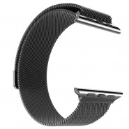 APPLE WATCH BAND 42MM LUXURY MILANESE LOOP MESH SMOOTH STAINLESS STEEL STRAP FULLY MAGNETIC - SPACE GREY [CLEARANCE]