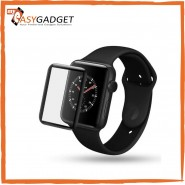 APPLE WATCH 3D CURVED TEMPERED GLASS SCREEN PROTECTOR WITH EDGE TO EDGE COVERAGE ANTI-SCRATCH COVER GUARD PREMIUM HD SHIELD FOR APPLE WATCH SERIES 1, SERIES 2, SERIES 3,FULL COVERAGE 3D 38 40 44MM