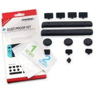 DOBE RUBBER PLUG DUST PROOF KIT + TEMPERED GLASS FOR NINTENDO SWITCH [CLEARANCE]