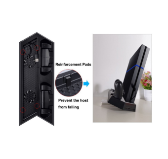 DOBE 2 CONTROLLER CHARGING STAND WITH COOLER FAN FOR PS4 / PS4 SLIM / PS4 PRO [CLEARANCE]