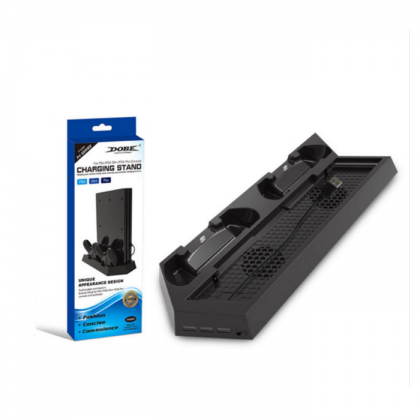 Dobe PS4 Stand Controller Charging Stand + Cooling Fan Ps4 / Ps4 Slim / Ps4 Pro TP4-023B