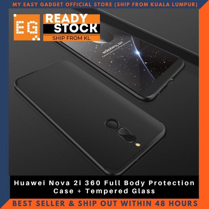 meet 27ff4 8368c Huawei Nova 2i 360 Full Body Protection Case + Tempered Glass