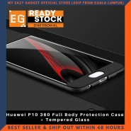 Huawei P10 360 Full Body Protection Case + Tempered Glass