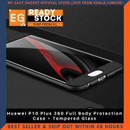 Huawei P10 Plus 360 Full Body Protection Case + Tempered Glass