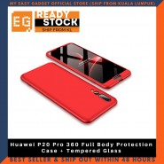 Huawei P20 Pro 360 Full Body Protection Case + Tempered Glass