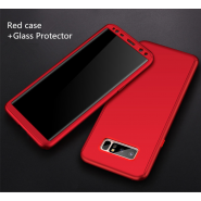 360 Full Body Protection Case + Tempered Glass For Samsung Galaxy Note 8