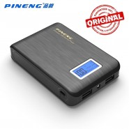 ORIGINAL PINENG PN-928 10000MAH POWER BANK 2 USB PORT - BLACK