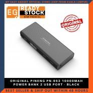 ORIGINAL PINENG PN-953 10000MAH POWER BANK 2 USB PORT - BLACK