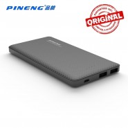 ORIGINAL PINENG PN-958 10000MAH POWER BANK 2 USB PORT - BLACK