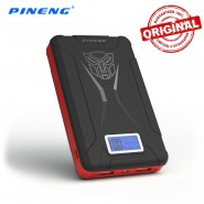 ORIGINAL PINENG PN-933 10000MAH POWER BANK 2 USB PORT - BLACK
