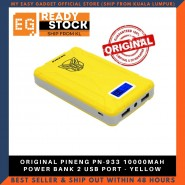 ORIGINAL PINENG PN-933 10000MAH POWER BANK 2 USB PORT - YELLOW