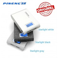 ORIGINAL PINENG PN-913 10000MAH POWER BANK 2 USB PORT - BLACK