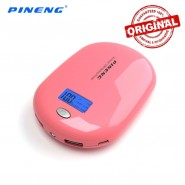 ORIGINAL PINENG PN-938A 10000MAH POWER BANK 2 USB PORT - PINK