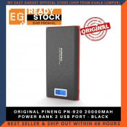 ORIGINAL PINENG PN-920 20000MAH POWER BANK 2 USB PORT - BLACK