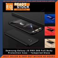 Samsung Galaxy J3 PRO 360 Full Body Protection Case + Tempered Glass