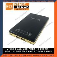 VIVIS DUAL USB PORT 17000MAH MOBILE POWER BANK TOUCH PANEL