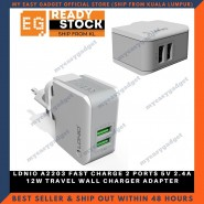 LDNIO A2203 FAST CHARGE 2 PORTS 5V 2.4A 12W TRAVEL WALL CHARGER ADAPTER