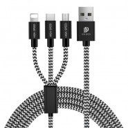 DUX DUCIS K-ONE 3 IN 1 TYPE C & MICRO USB & LIGHTNING CABLE 5V 2A 125CM