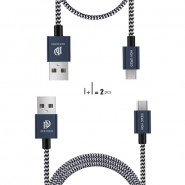 DUX DUCIS KII 100CM +20CM METAL ALUMINIUM 2A MICRO USB CABLE