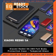 Xiaomi Redmi 5A 360 Full Body Protection Case + Tempered Glass
