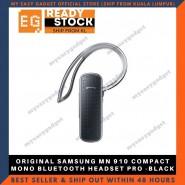 Original Samsung Mn 910 Compact Mono Bluetooth Headset Pro -Black
