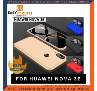 HUAWEI NOVA 3i / NOVA 3E / NOVA 3 360 FULL BODY PROTECTION CASE + TEMPERED GLASS