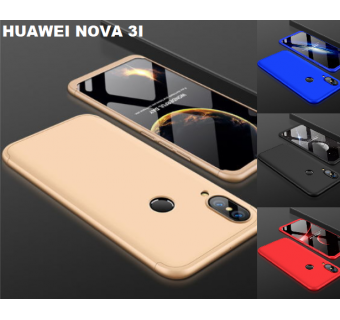 HUAWEI NOVA 3 / 3I / 3E 360 FULL BODY PROTECTION CASE + TEMPERED GLASS
