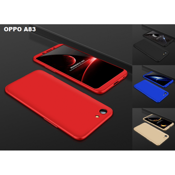 Oppo A83 360 Full Body Protection Case + Tempered Glass