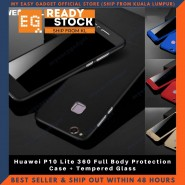 Huawei P10 Lite 360 Full Body Protection Case + Tempered Glass