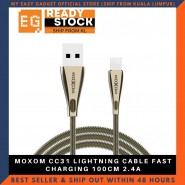 MOXOM CC31 LIGHTNING CABLE FAST CHARGING 100CM 2.4A