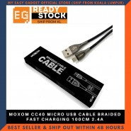 MOXOM CC40 MICRO USB CABLE BRAIDED FAST CHARGING 100CM 2.4A