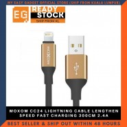 MOXOM CC24 LIGHTNING CABLE LENGTHEN SPEED FAST CHARGING 300CM 2.4A