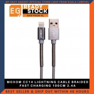 MOXOM CC14 LIGHTNING CABLE BRAIDED FAST CHARGING 100CM 2.4A