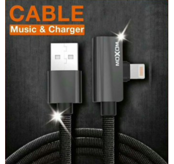 MOXOM CC43 LINGHTNING /MICRO USB 2 IN 1 CABLE MUSIC CHARGING 120CM 2.4A