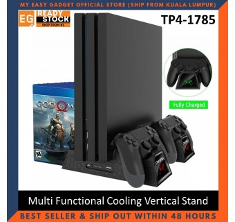 Dobe Ps4 Slim / Pro Multi Functional Cooling Vertical Stand + Controller Charging Dock TP4-1785
