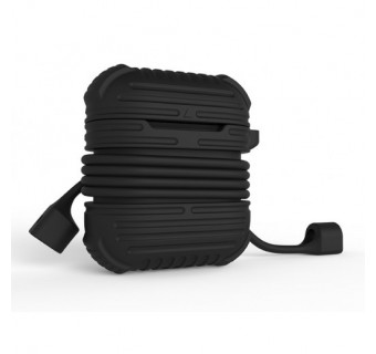 I-SMILE ARMOUR SERIES STRAP AND SILICONE FULL PROTECTIVE CASE FOR APPLE AIRPODS CASE [CLEARANCE]