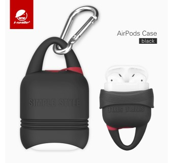 I-SMILE KINDON SERIES SOFT SILICONE DROP RESISTANT KEY CHAIN WATERPROOF AIRPODS CASE [KL SELLER]