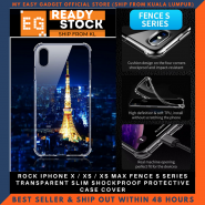 ROCK IPHONE X / XS / XS MAX FENCE S SERIES TRANSPARENT SLIM SHOCKPROOF PROTECTIVE CASE COVER
