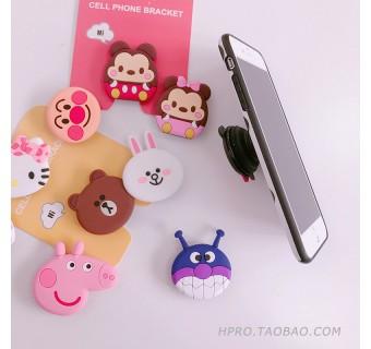 AIR BAG CELL PHONE BRACKET CUTE PHONE STAND FINGER HOLDER FOR IPHONE SAMSUNG HUAWEI RYAN HELLO KITTY STARBUCKS [KL SELLER]