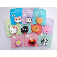 AIR BAG CELL PHONE BRACKET CUTE PHONE STAND FINGER HOLDER FOR IPHONE SAMSUNG HUAWEI RYAN HELLO KITTY STARBUCKS [KL SELLER]