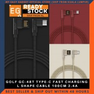 GOLF GC-48T TYPE-C FAST CHARGING L SHAPE CABLE 100CM 2.4A