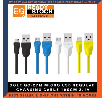 GOLF GC-27M MICRO USB REGULAR CHARGING CABLE 100CM 2.1A