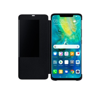 HUAWEI MATE 20 PRO CASE ORIGINAL PU LUXURY LEATHER FLIP COVER FULL PROTECTION SMART WINDOW VIEW PHONE CASING [CLEARANCE] (FREE TEMPERED GLASS)