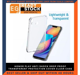 Honor Play Anti Shock Drop Proof Transparent Protection Cover Clear Case