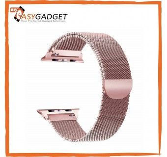 MAGNETIC CLASP MESH LOOP MILANESE STAINLESS STEEL REPLACEMENT STRAP FOR APPLE WATCH 1 2 3 4 42MM / 44MM