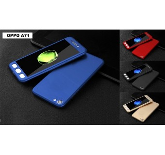 OPPO A71 360 FULL BODY PROTECTION CASE + TEMPERED GLASS