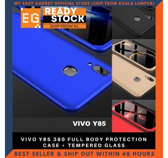 VIVO Y85 360 FULL BODY PROTECTION CASE + TEMPERED GLASS