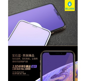BLUEO IPHONE X / XS / XS MAX ANTI BLUE RAY FULL COVER TEMPERED GLASS [KL SELLER]